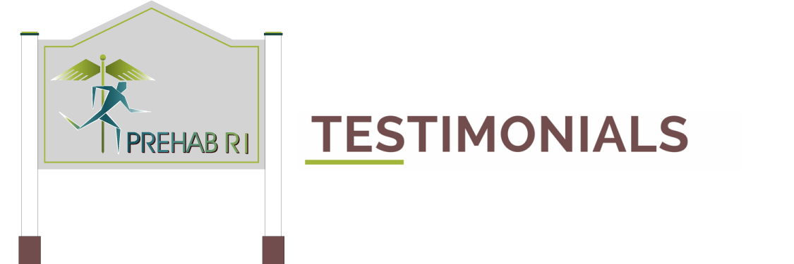 PrehabRI Testimonials